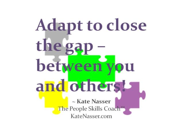 """Customer Cues: Image is my quote """"Adapt to Close the Gap"""""""