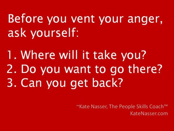 Leadership Listening: Image is Quote about where will your anger take you?