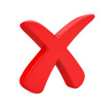 Constant Naysayers: Image is a giant red X symbolizing blockage.