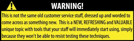 Customer Service USA - DVD Warning Label