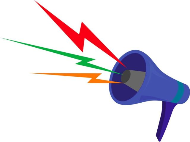 Extroverts Learning: Image is megaphone.
