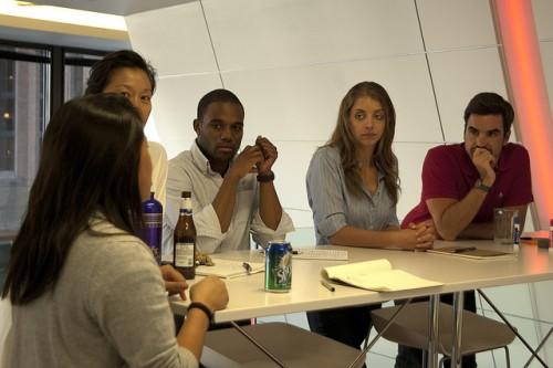 Modern Leadership & Teamwork: Image is diverse people working together.