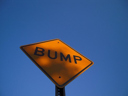 Customer Service People Skills: Image is sign that says BUMP.