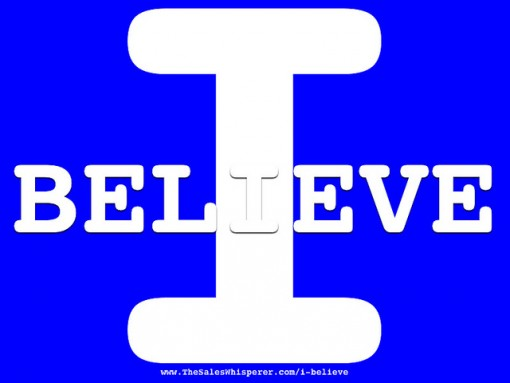 Change Leadership Beliefs: Image is the phrase I Believe