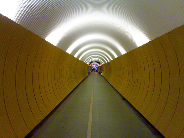 Culture Blinds: Image is a tunnel with sides blinded.