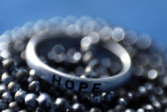 Customer Experience Leadership: Image is round band with the word hope on it.