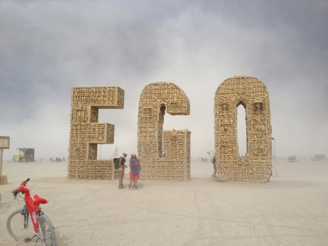 Ego Actions: Image is the word EGO spelled out.