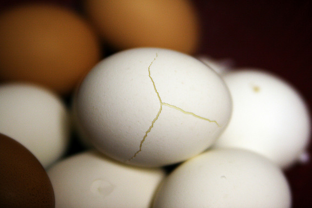 Mislabelled Personality Conflict: Image is cracked eggs.