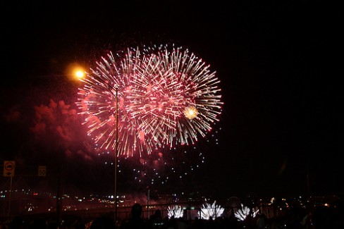People Skills Lessons Learned: Image is fireworks.