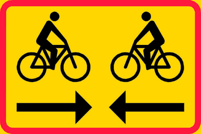 Highly Effective Connection: Image is two bicyclists approaching each other.