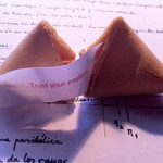 Leadership intuition: Image is fortune cookie saying trust your intuition.