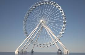 Leadership Inspiration: Image is Ferris Wheel showing its connection to the ground.