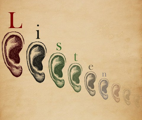 Superior Customer Experience: Image is many ears.
