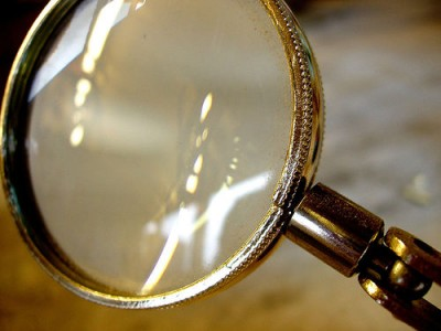Uncommon Views of Common Wisdom: Image is magnifying glass.