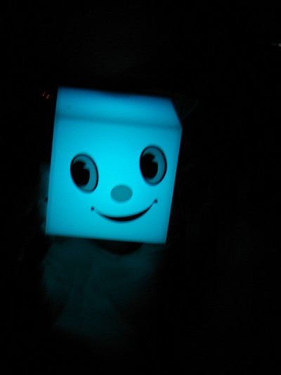 Negative Effects of Being Positive image is Smiley Face Cube Glowing