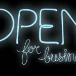 Entrepreneurs People Skills: Image is neon sign saying open for biz.