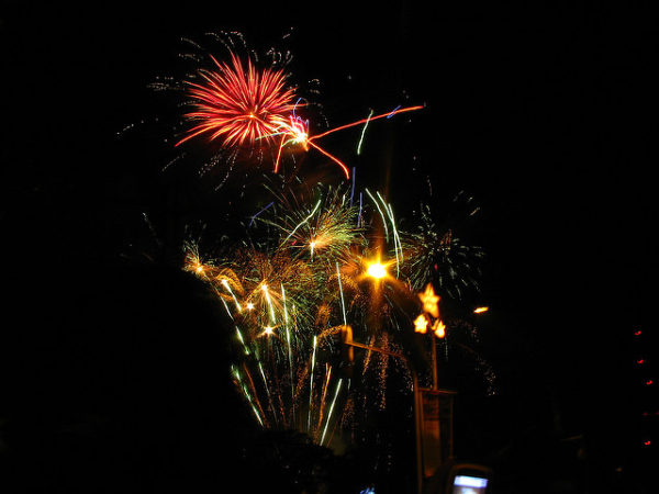 People Skills Realizations: Image is fireworks lights.