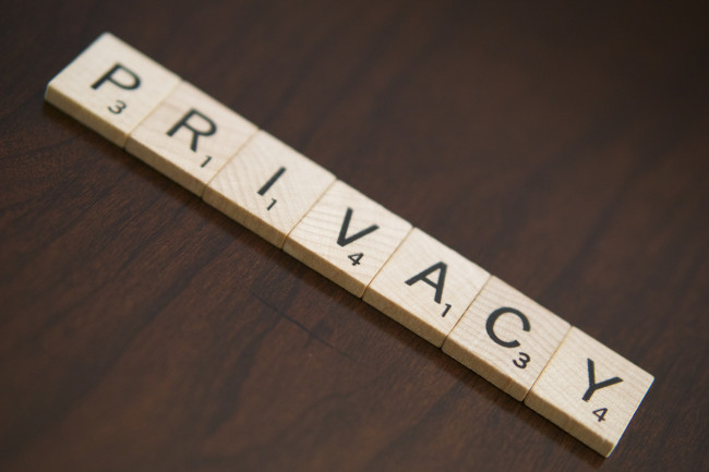 Customer Experience Delivery: Image is word Privacy.