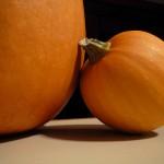 People Skills Missteps: Image is small pumpking leaning on large pumpkin