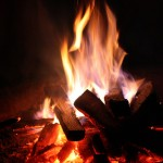 Leaders Ignite Passion Image is a campfire.