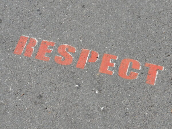 Rediscover Respect: Image is word respect written on concrete