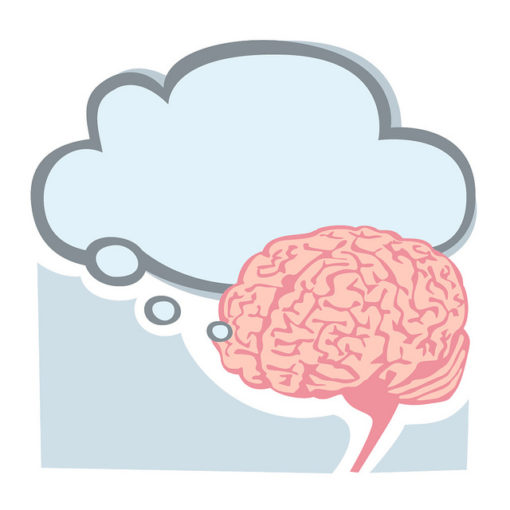 Service Leaders: Image is thought bubble w/ a brain.