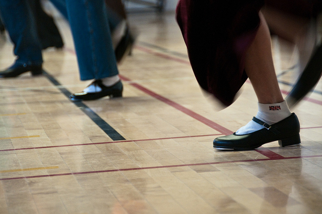 Sidestep Accountability: Image is tap dancers.