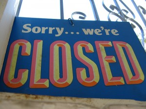 "Entrepreneurs People Skills: Image is sign ""sorry we're closed""."