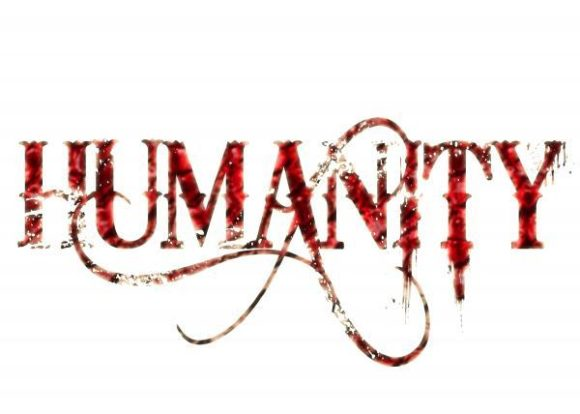 Two Simple Letters Unite Everyone: Image is the word humanity.