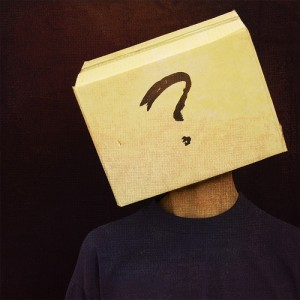 Sudden Leader: Image is person w/ square block on head w/ question mark