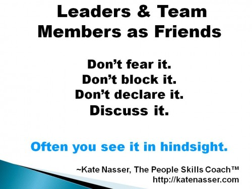 Leadership Quandary: Image says Don't fear it. Discuss it.