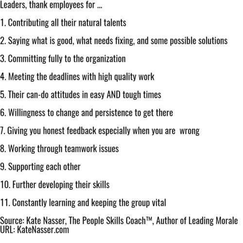 Leadership Gratitude: Image is the list of 11.