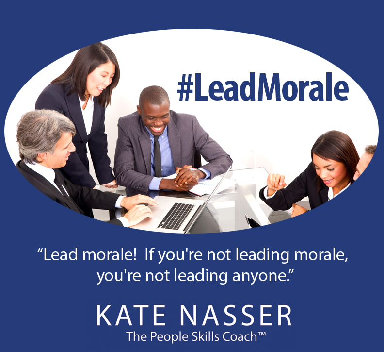 High Morale Not Fear Image: #LeadMorale Twitter chat logo