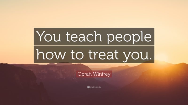 Improved People Skills: Image is quote from Oprah Winfrey.