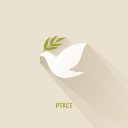 Peace Loving Leaders: Image is dove w/ olive branch