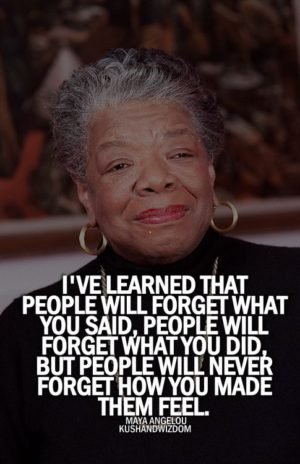 Inspirational voice of Dr. Maya Angelou