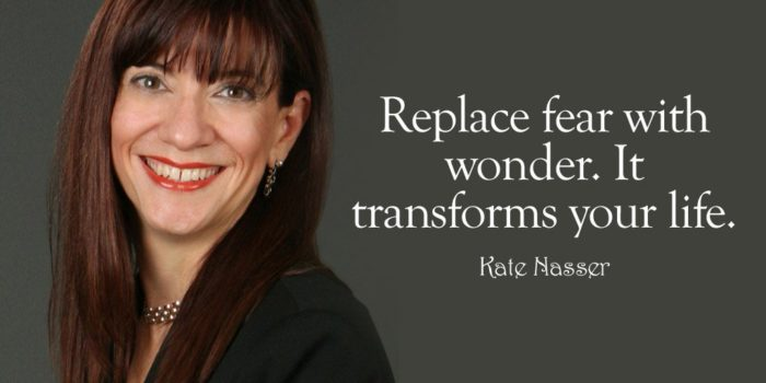 """Customer voice: Image is my quote """"Replace fear with wonder. It transforms your life and your business."""""""