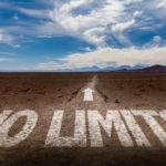 Do You Seek Freedom or Actually Dominance? Image is road saying No LImits.
