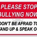 Annual End Bullying Rally: Image is sign stop bullying.