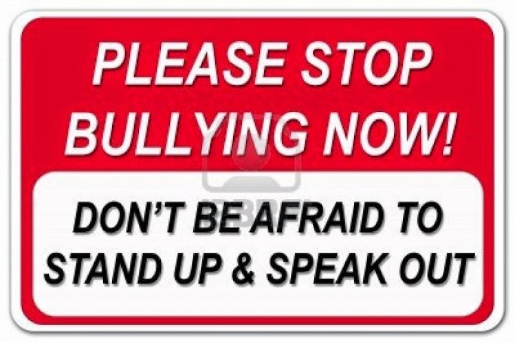 End Bullying: Image is sign stop bullying.