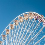 Courageous Employees: Image is a big ferris wheel.