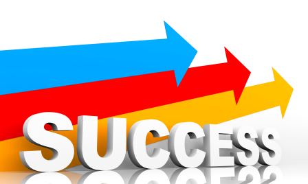Leadership Promotion Strategy: Image is 3 different arrows and the word success.