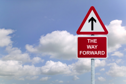 "Superior Customer Experience: Image is sign ""The Way Forward"""