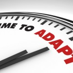Be Helpful Not Patronizing. Image is clock saying Time to Adapt.