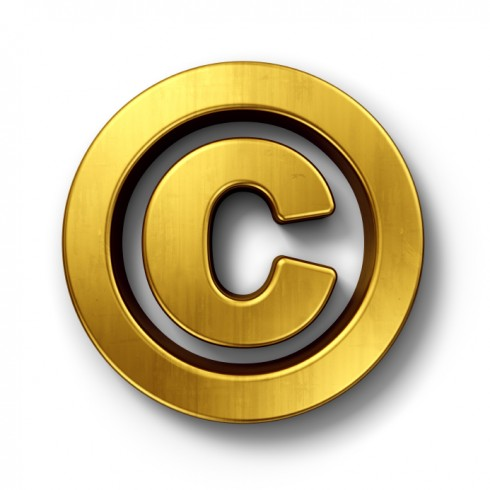 Respect Copyrights: Image is Gold Copyright Symbol