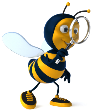 Reduce Conflict: Image is bee w/ magnifying glass.