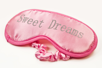 Leadership Optimism: Image is a sweet dreams sleep mask.