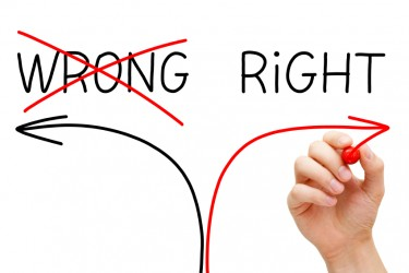 Engaging Employees: Image is words Wrong & Right