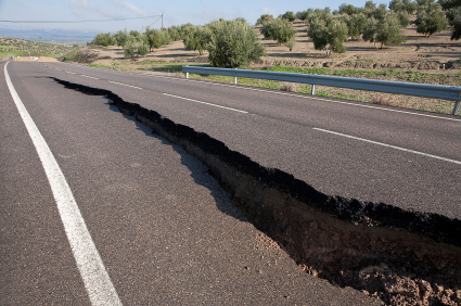 Customer Experience: Image is a road with a crack.