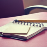 Leadership People Skills Step to Crisis Recovery: Image is an open blank journal w/ pencil.